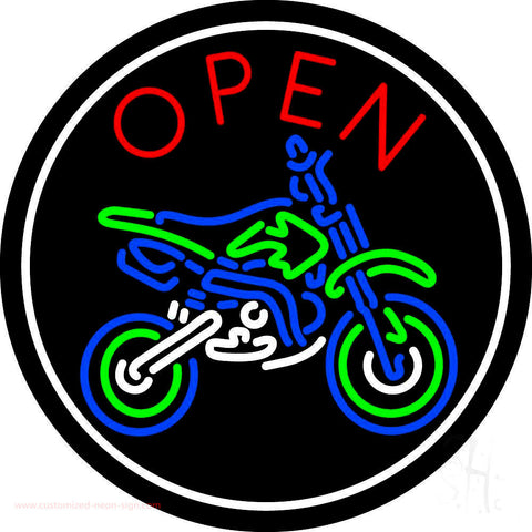 Red Open Bike Logo Neon Sign
