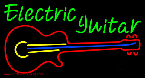Electric Guitar 1 Neon Sign