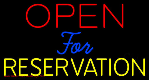Open For Reservation 1 Neon Sign