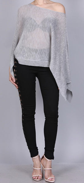 Sweater Top Poncho Lightweight