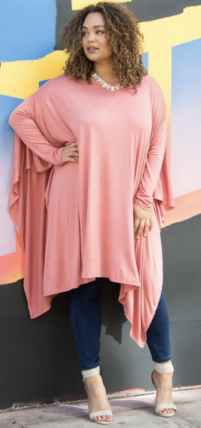 Plus Size Sharkbite Top
