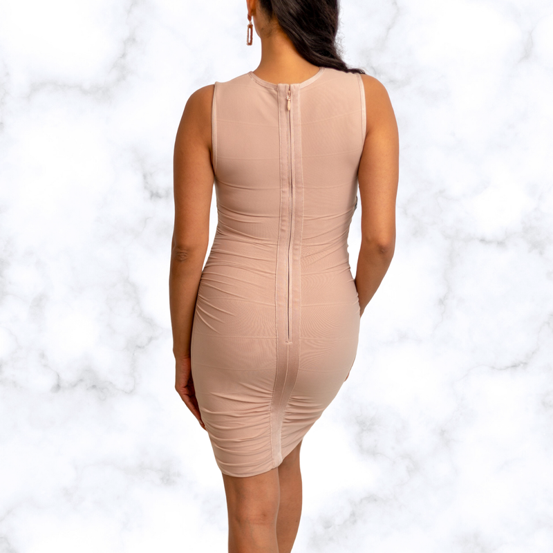 Stacey Mesh Sleeveless Mini Bandage Dress