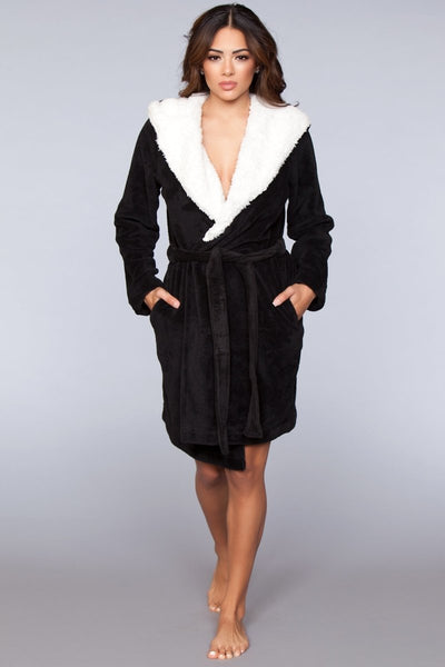 Janet Plush Robe- Black