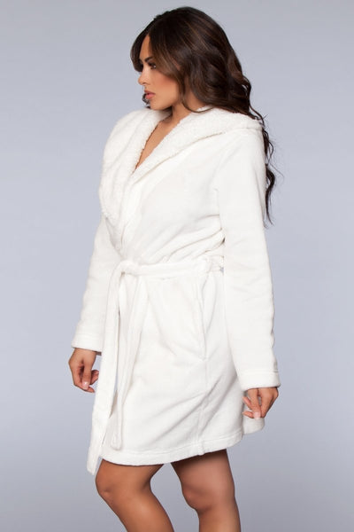 Janet Plush Robe- White