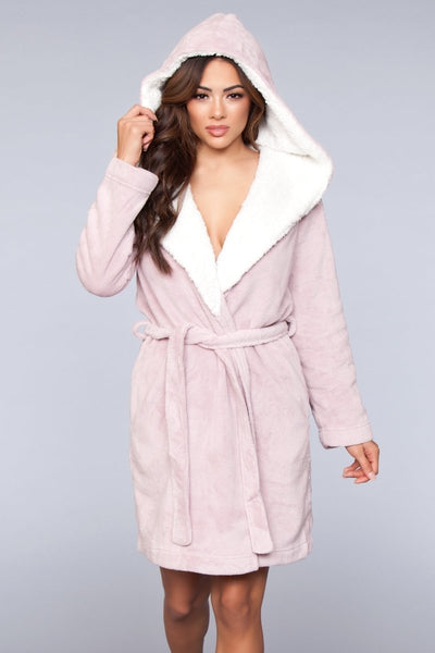 Janet Plush Robe- Pink