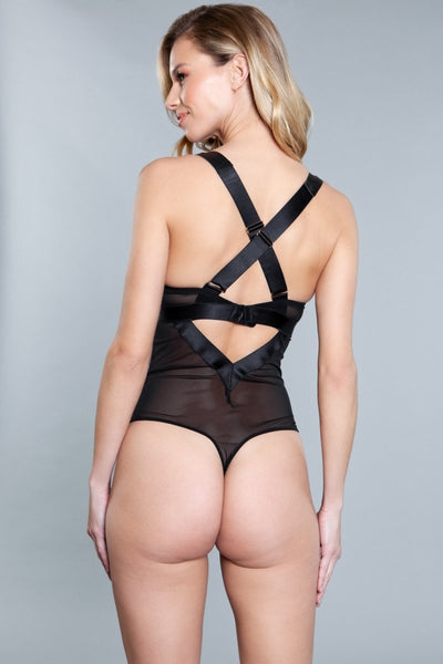 Maleni Faux Leather Teddy