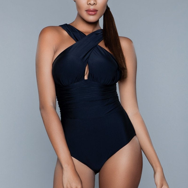 Everly Halter One Piece Swimsuit