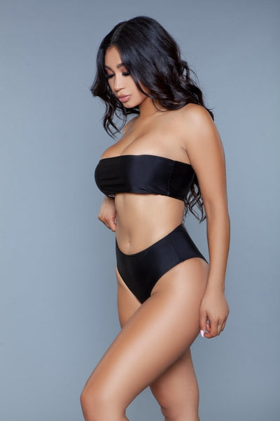 Serenity Bandeau High Waisted Bikini Set