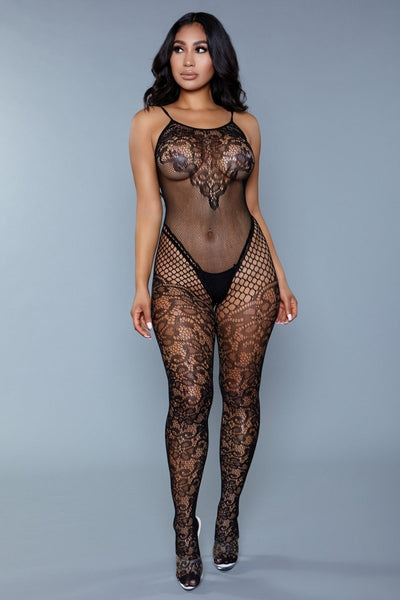 Aria Lace Crotchless Body Stocking