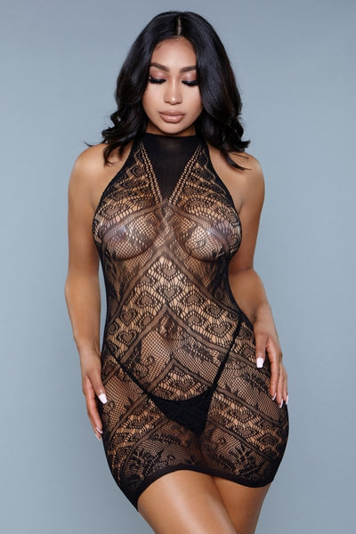 Avery Halter Body Stocking