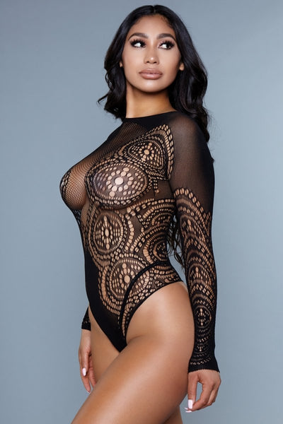Emma Long Sleeve Mesh Bodysuit