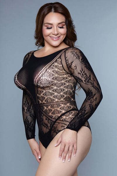 Ava Long Sleeve Mesh Bodysuit