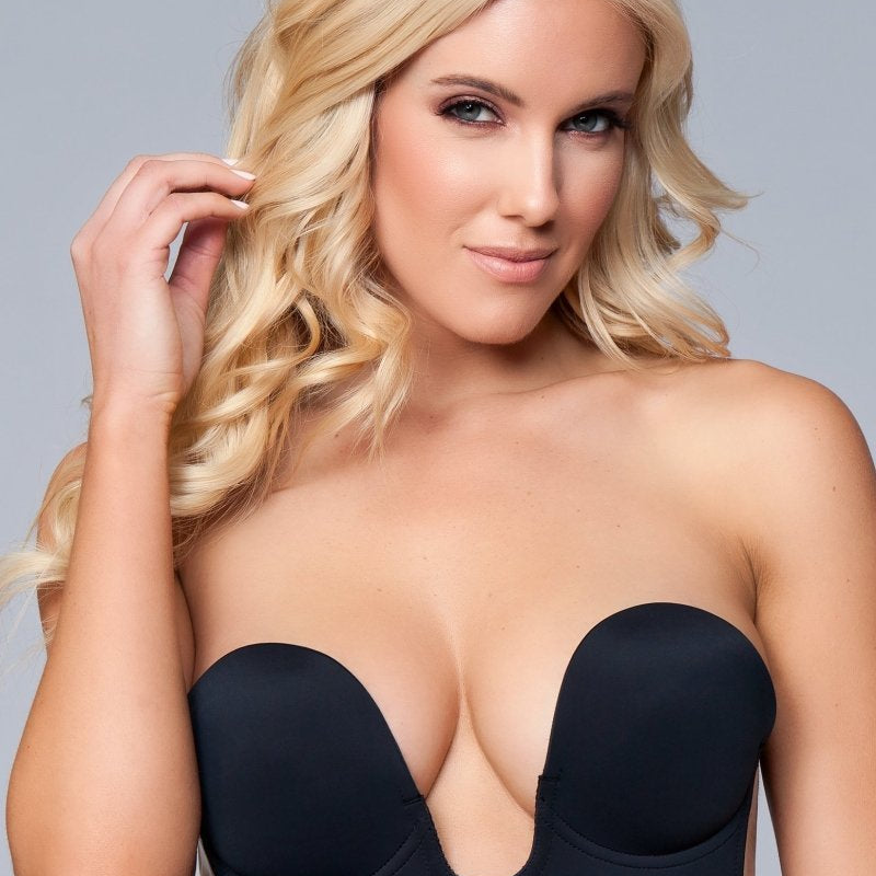 Ruby Deep V Bra - Black