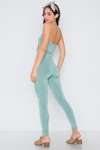 Riley Cut Out Bandeau Jumpsuit - Green