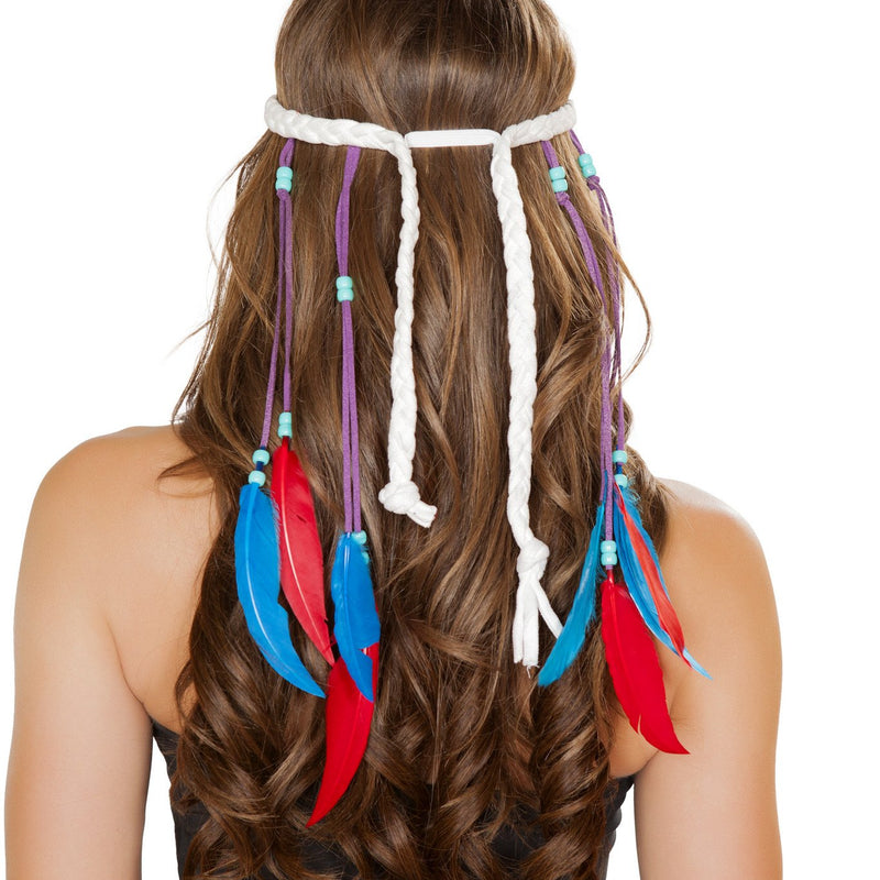 White Native American Headband