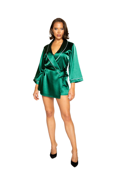 Elegant Satin Collared Robe