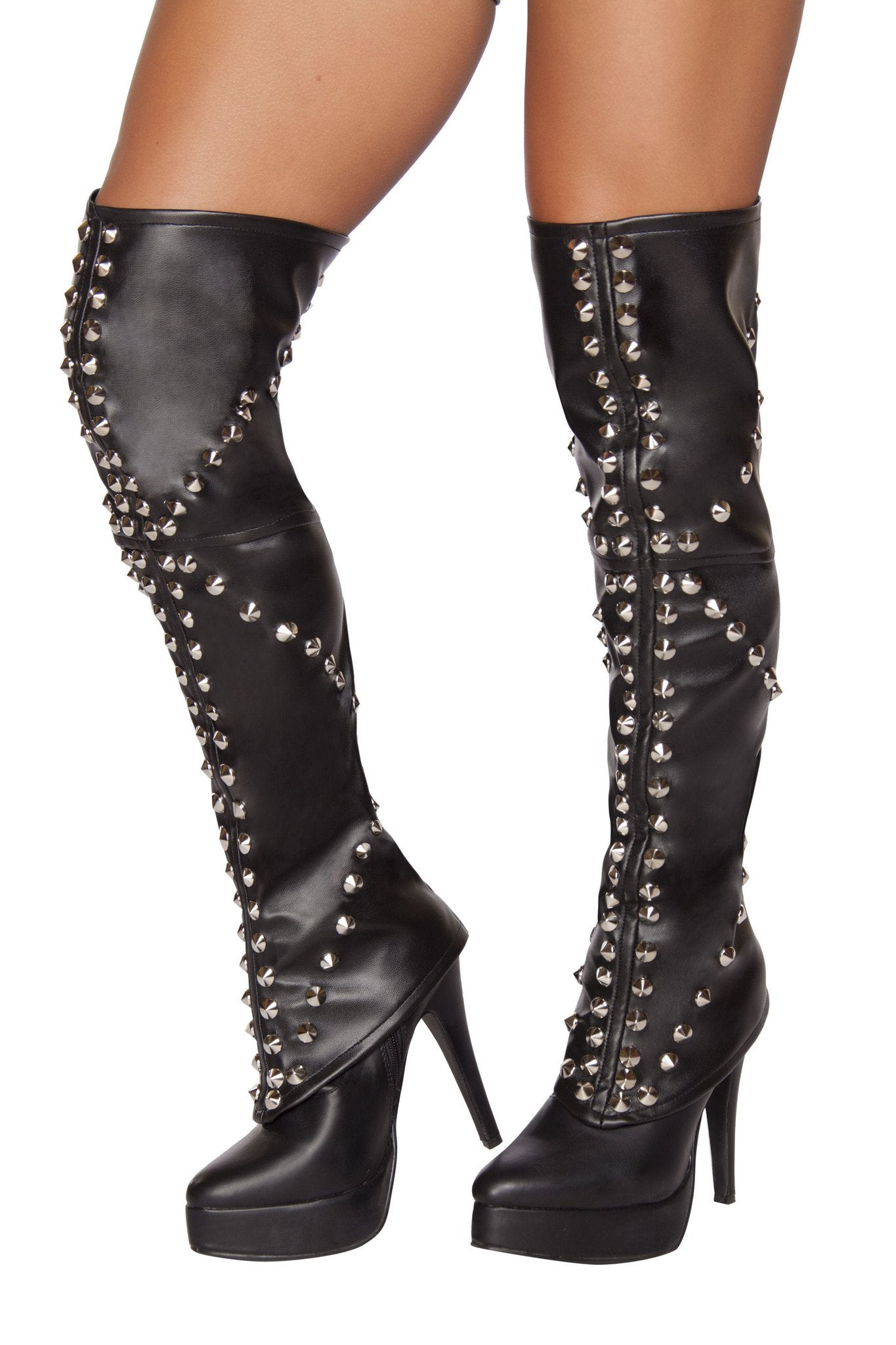 Sexy SWAT Spike Studded Boot Covers