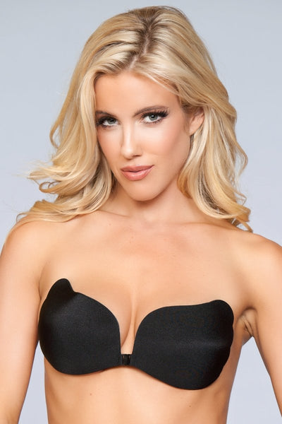 Adeline Hooked Up Invisible Bra - Black