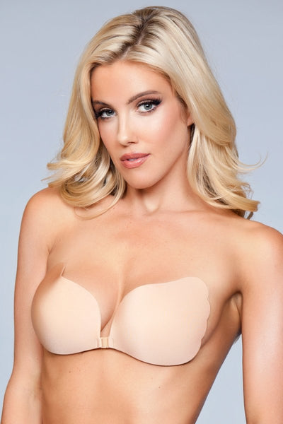 Adeline Hooked Up Invisible Bra - Nude