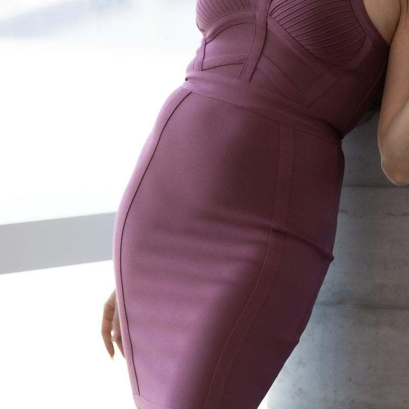 Bentley V Neck Mini Bodycon Dress- Sexy Bodycon Dresses- Partypeach.com