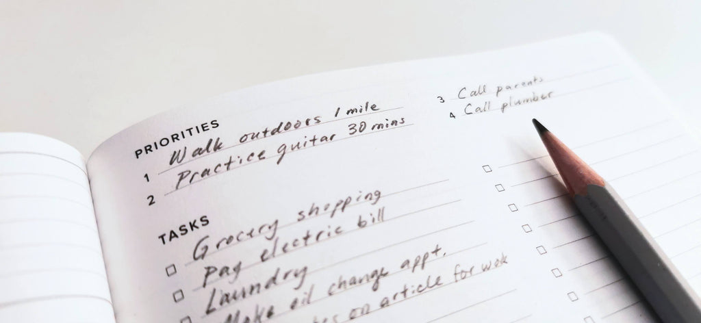 New year's resolutions and task list in an Appointed planner