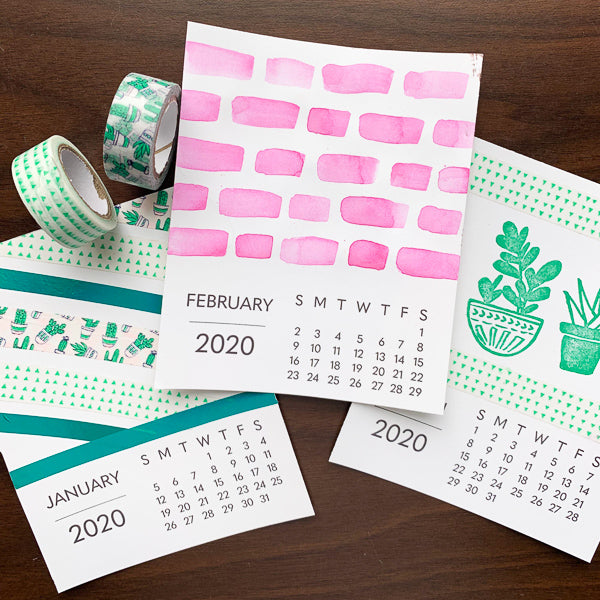 2020 Desk Calendar Decorating | Teens and Adults