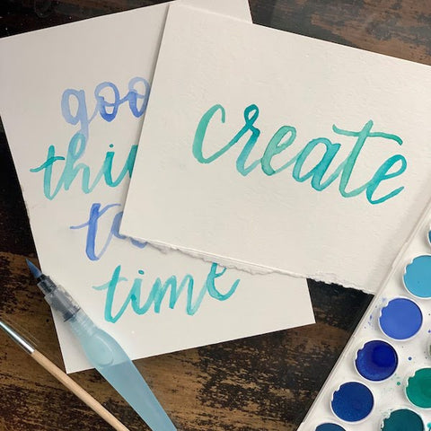 Watercolor Brush Lettering | Teens and Adults