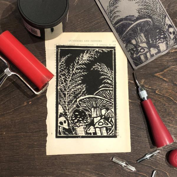 Linoleum Block Printing: Botanicals | Adults