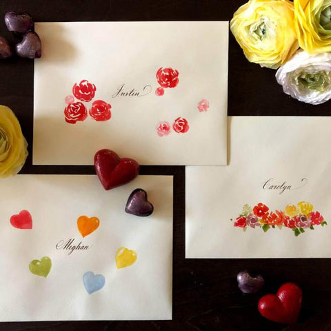 Illustrated Envelopes: Hearts and Flowers | Teens and Adults