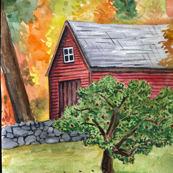 Watercolor Painting: Fall in New England | All Ages