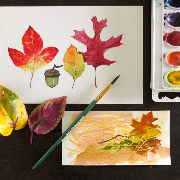 Fun with Watercolor: Autumn Leaves | All Ages