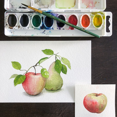 Fun with Watercolor: Apples and Pears | All Ages