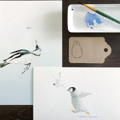 Fun with Watercolor: Penguins | All Ages