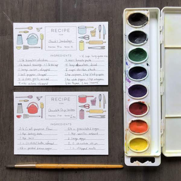Painting Recipe Cards | Teens and Adults