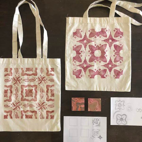 Tile Tote Bag Printing | Teens and Adults