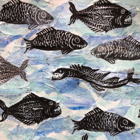 Mixed Media: School of Fish | All Ages