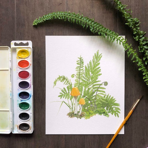 Fun with Watercolor: Ferns | All Ages
