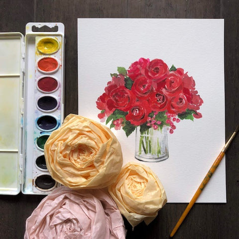 Fun with Watercolor: Roses | All Ages