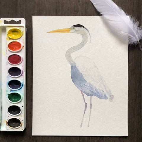 Fun with Watercolor: Herons | All Ages