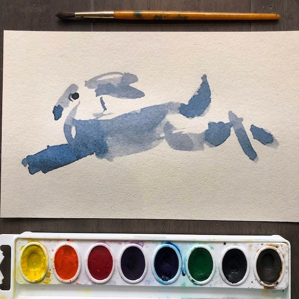 Fun with Watercolor: Rabbits | All Ages