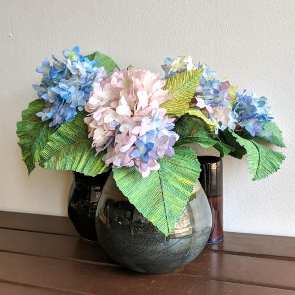 Paper Flowers: Hydrangea Bouquet | Teens and Adults
