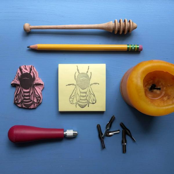 Rubber Stamp Carving: Bees | Teens and Adults