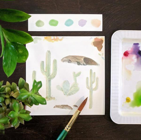 Fun with Watercolor: Succulents | Family