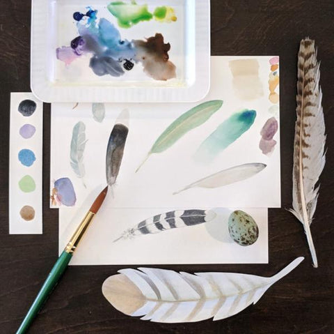 Fun with Watercolor: Feathers | Family