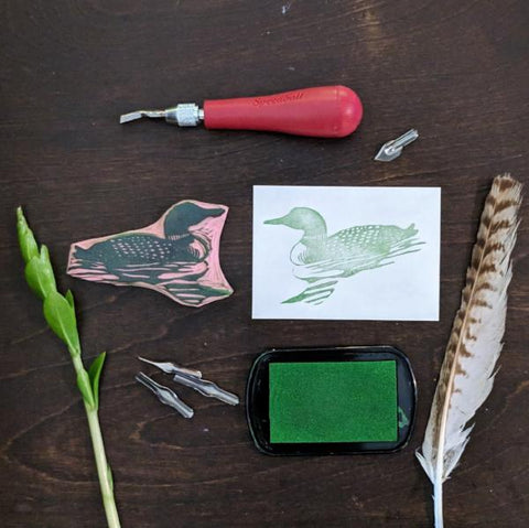 Rubber Stamp Carving: Loon | Teens and Adults