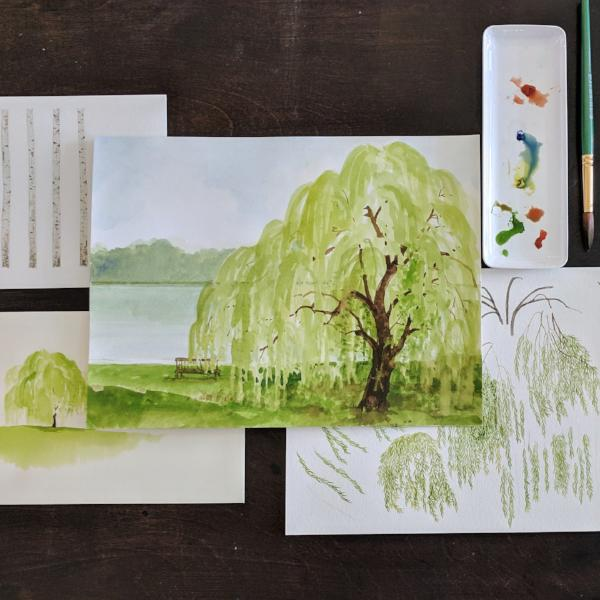 Fun with Watercolor: Willows and Birches | Family