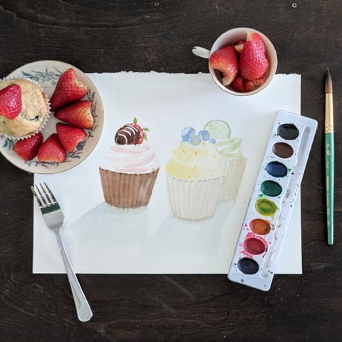 Fun with Watercolor: Cupcakes | Family