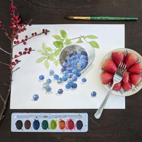 Fun with Watercolor: Berries | Family