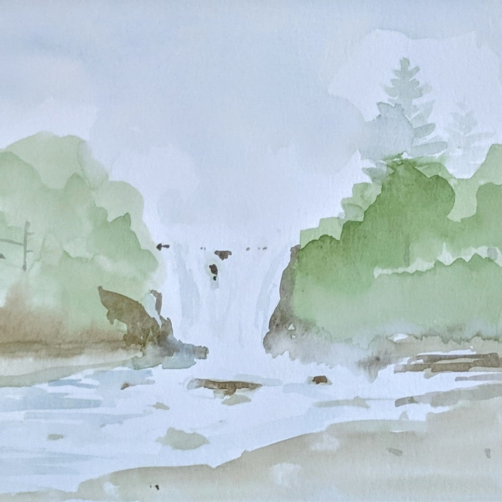Watercolor Paint Night: Waterfall | Teens and Adults