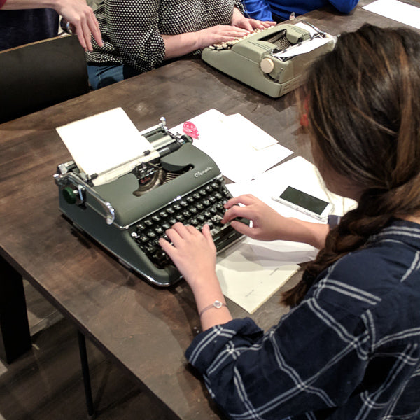 The Type Bar at Letter Writing Night